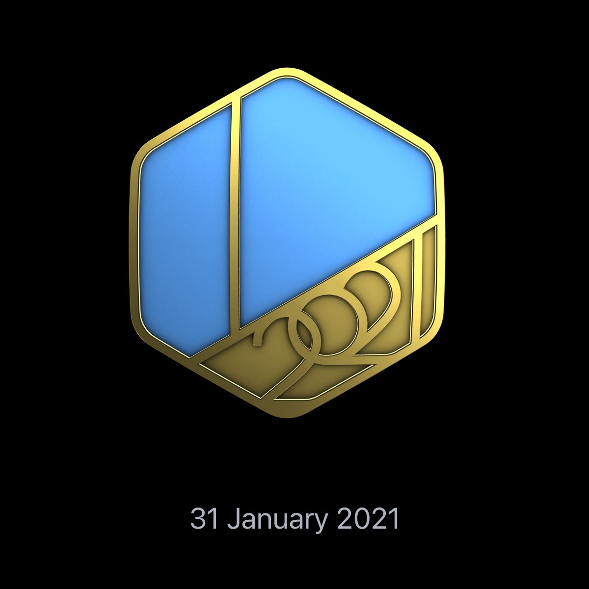 January 2021 Fitness Golden Medal