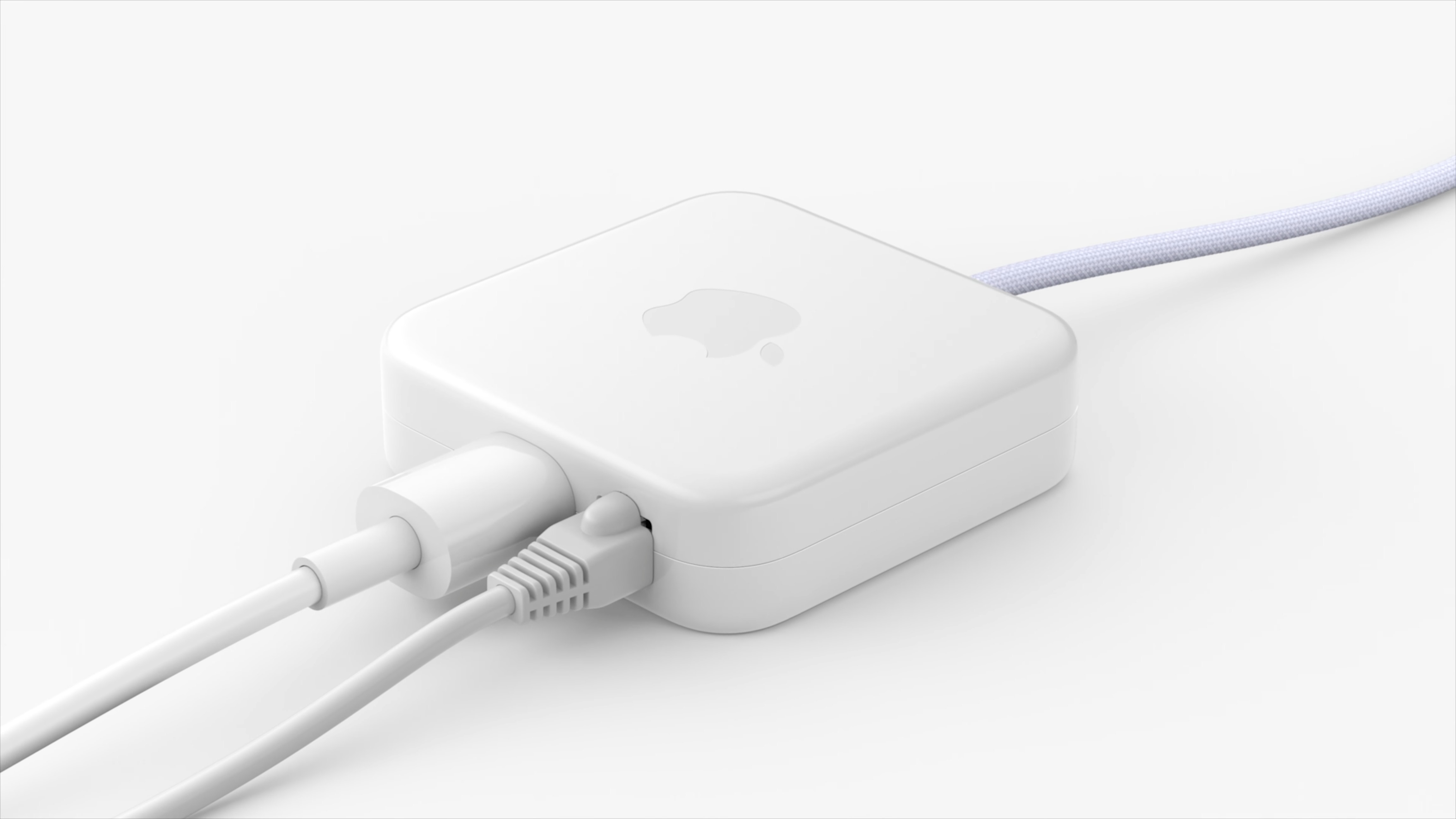 M1 iMac's new power brick with integrated ethernet